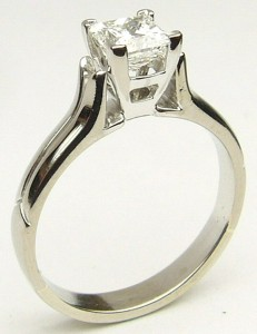 e9191.1 0.70ct. VS2-G princess cut diamond ring