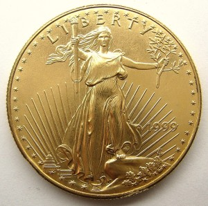 e9233 US 1oz gold coin $50.00