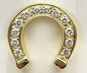 e9250 diamond horseshoe ring 14kt.