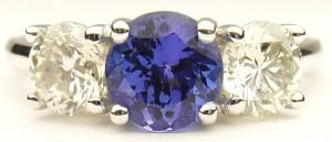 e9282 Tanzanite and diamond ring