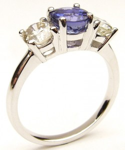 e9282.1 Tanzanite and diamond ring