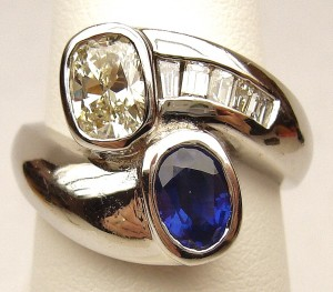 e9288 diamond and sapphire ring