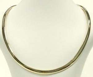 e9392 Italian 14kt. gold omega link necklace