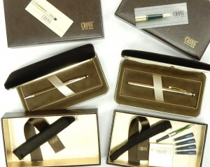 e9407 solid 14kt. gold pen and fountain pen Cross set