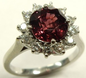 e9483.1 BIRKS ruby and diamond ring
