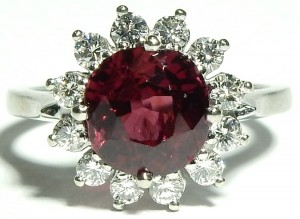 e9483.3 BIRKS ruby and diamond ring