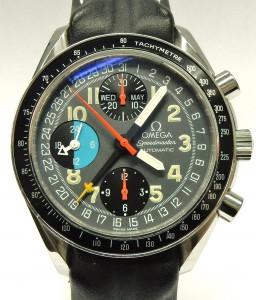 e9535 Omega 3820.53 Speedmaster triple date Schumacher