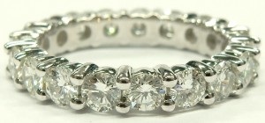 e9539 2.34ct. tw. diamond eternity ring 18 karat