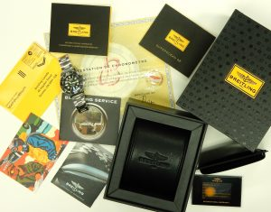 Breitling SuperOcean A17374 black dial box and paperwork