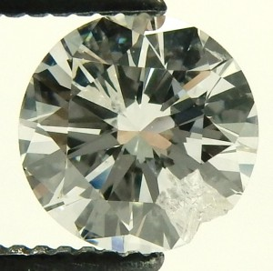 chipped diamond e9594 0.88ct. before repair