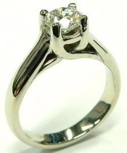 e9594 Lucida solitaire diamond ring 0.63ct. SI1-F