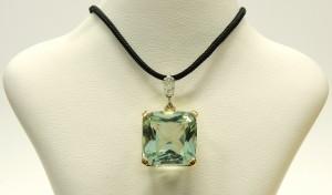 e9596 antique aquamarine pendant