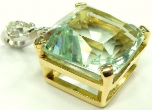 e9596.1 antique aquamarine pendant