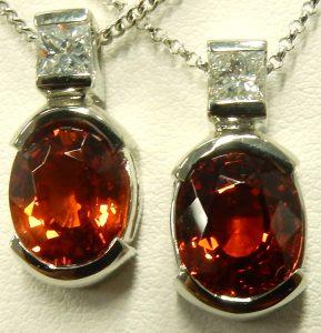 e9611 e9612 spessartite garnet pendants