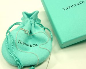 Tiffany 24 inch cable link boxed silver chain