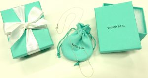 Tiffany 24 inch sterling silver cable link chain
