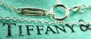 Tiffany cable link sterling silver necklace