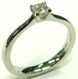 e9656 0.40ct. princess cut diamond ring internally flawless D colour