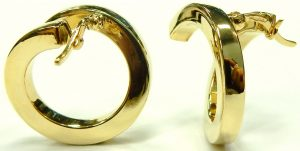 e9658 18 karat hoop earrings