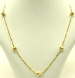 e9685 8 karat German ball chain necklace