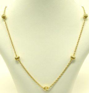 e9685 8 karat German ball chain necklace