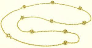 e9685 German ball chain necklace 8 karat
