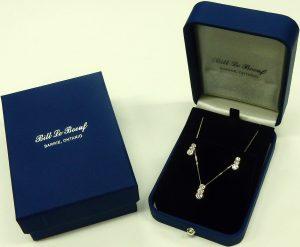 e9694 snowman diamond earrings and pendant
