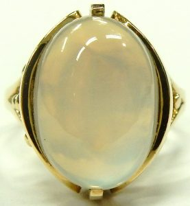 e9720 Moonstone ring 10 karat yellow gold Siffari