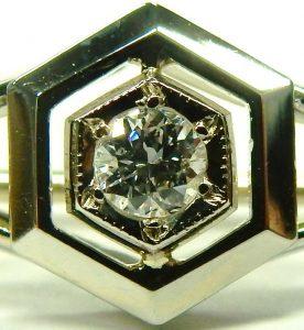 e9734 Art Deco diamond brooch