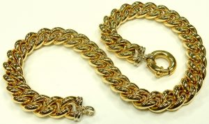 e9747 curb link necklace yellow gold