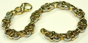 e9769 platinum and 18 karat yellow gold bracelet
