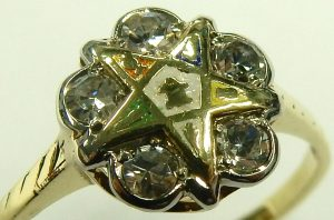 e9620 Eastern Star diamond ring 14 karat gold 001
