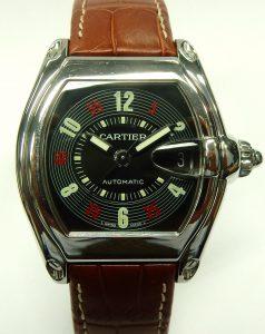 e9819 Cartier Roadster 2510 brown strap