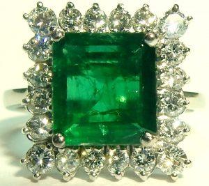 e9831 1.64ct. emerald 0.55ct. tw. diamond ring 18kt. white gold 003