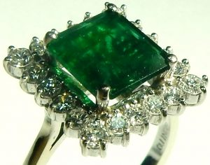 e9831 1.64ct. emerald 0.55ct. tw. diamond ring 18kt. white gold 005