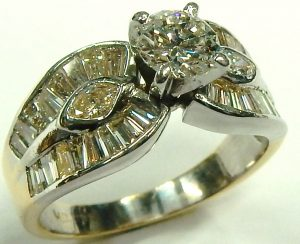 e9836 1.55ct.tw. diamond ring baguette 001