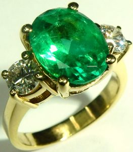 e9863 4.75ct. emerald and 0.85ct. tw diamond ring 003