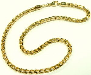 e9864 14 karat open foxtail necklace 16 inch 001