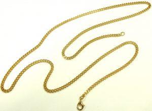 e9865 18 karat curb link chain 27 inch 3.0mm 001
