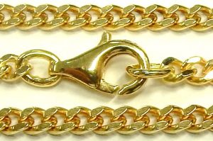 e9865 18 karat curb link chain 27 inch 3.0mm 002