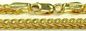 e9868 24 inch fox tail chain 14 karat yellow gold