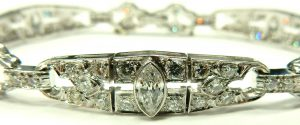 e9901 platinum Art Deco diamond bracelet 003