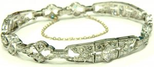 e9901 platinum Art Deco diamond bracelet 005