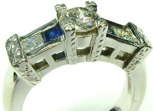 e9906 custom diamond and sapphire ring 14 karat 002