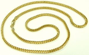 ee9868 14 karat yellow gold foxtail chain 24 inch