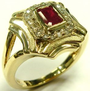 e9964-emerald-cut-ruby-and-diamond-ring-14-karat