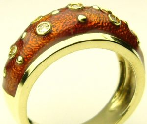 e7205-1-brown-orange-enamel-ring