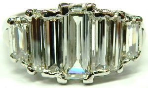e10245 BIRKS platinum baguette diamond ring 001