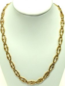 e10294 fancy link necklace and bracelet 18 karat 004