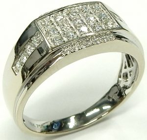 Painstaking 1.20 Ct Round Diamond Wedding Party Bridal Ring Band Set 14k White Gold Size 4 Factory Direct Selling Price Bridal & Wedding Party Jewelry Jewelry & Watches
